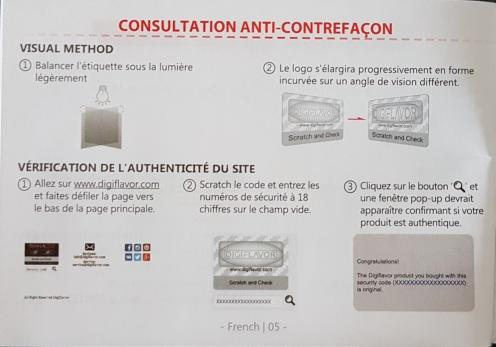 Notice Constructeur 1